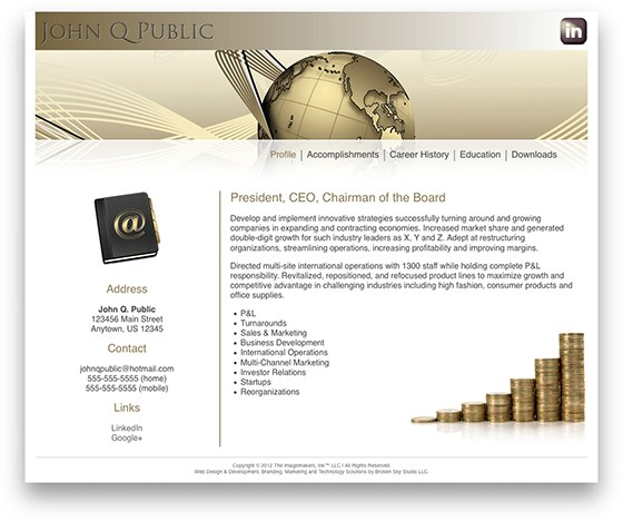 Gold Two Web Portfolio